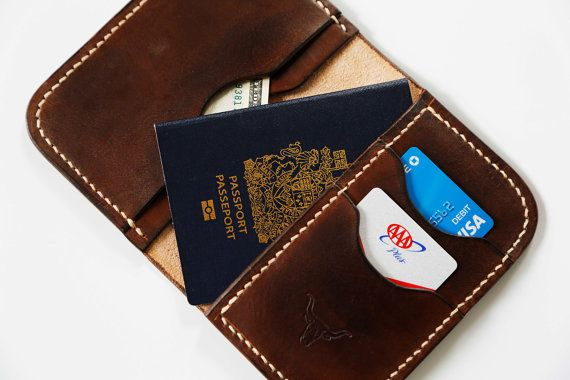 Leather Passport Wallet by SplitrailLeather on Etsy
