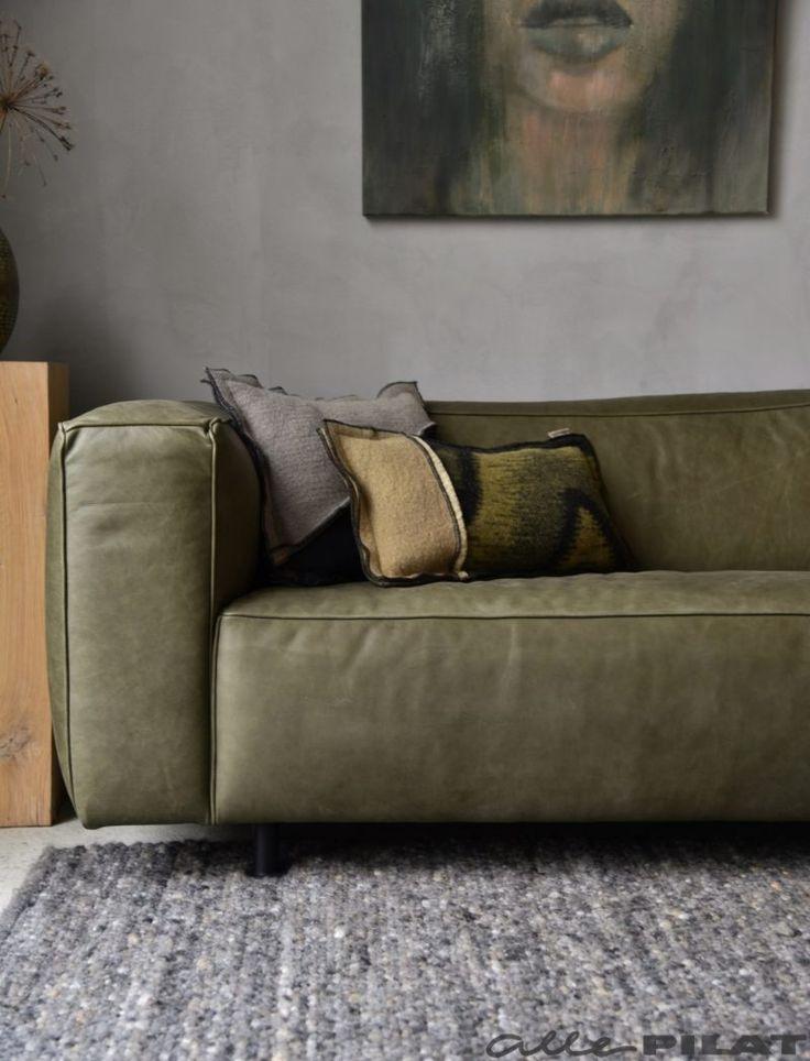 25+ beste idee u00ebn over Groene Bank op Pinterest   Fluwelen sofa, Fluwelen bank en Interieurs