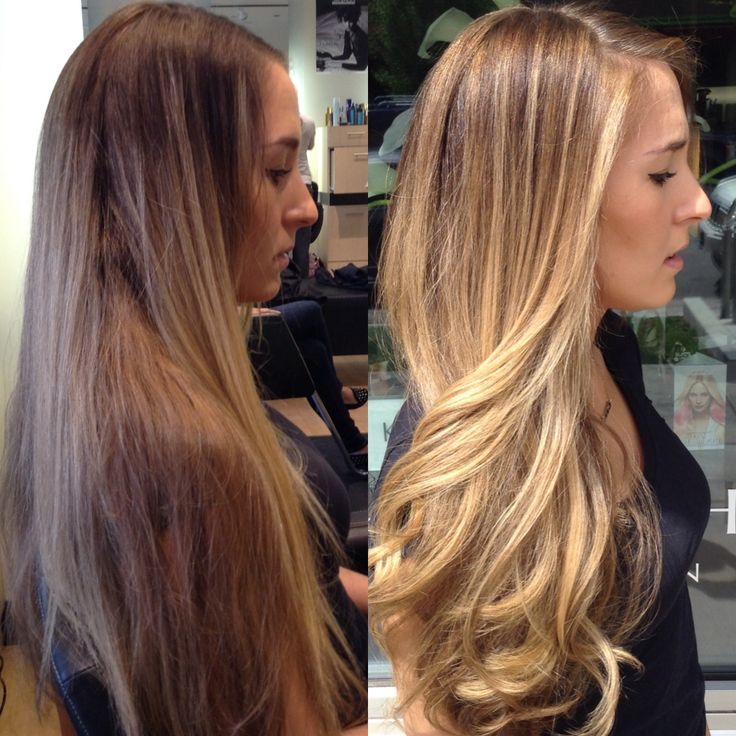 Honey Brown Balayage Ombre