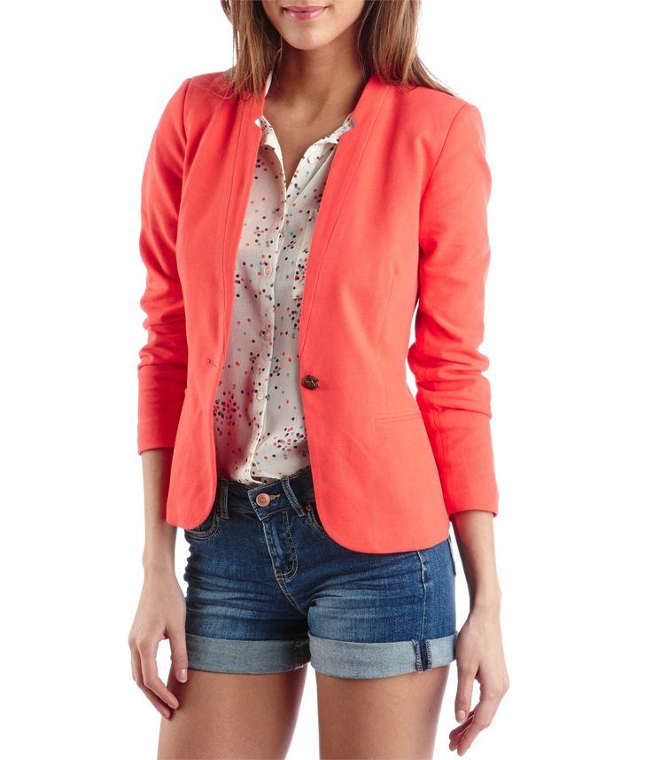 Veste de tailleur femme corail pink 39.95€ Camaieu