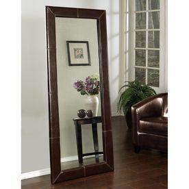 Pacific Loft Logan 30-In X 70-In Brown Rectangular Framed Contemporary Floor Mirror Atg7925094