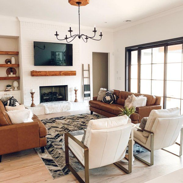 Lucca Iron Chandelier Farm House Living Room Long Living Room Leather Couches Living Room #small #living #room #chandeliers