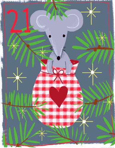 Day 21 Just Kids Ltd Advent My favourite old christmas mouse!