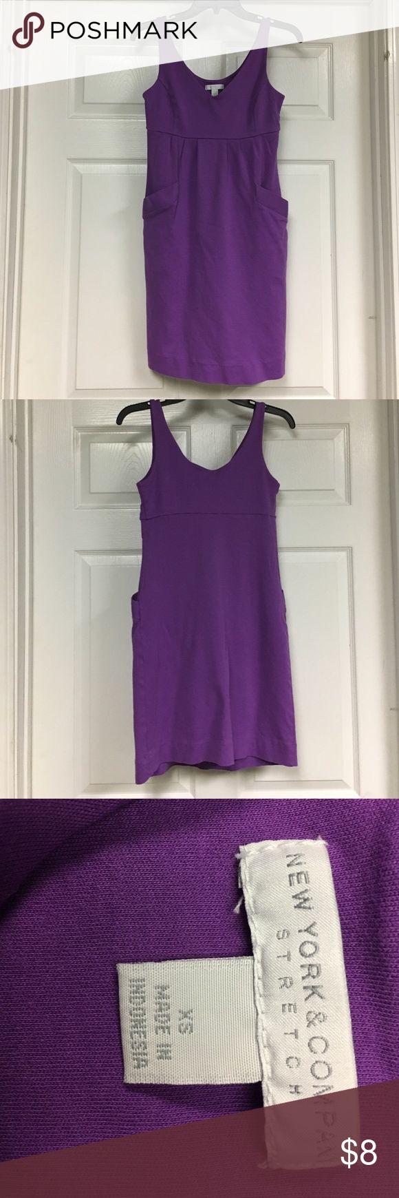 New York & Co purple sundress Purple sundress with side pockets New York & Company Dresses
