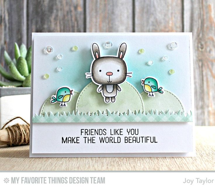 Springtime Critters Stamp Set and Die-namics, Spring Scene Builder Die-namics, Stitched Dome STAX Die-namics - Joy Taylor  #mftstamps
