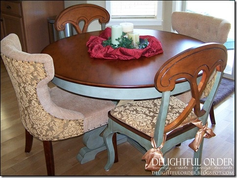 pier 1 kitchen table with bench one tall dining chairs paired gold damask hourglass