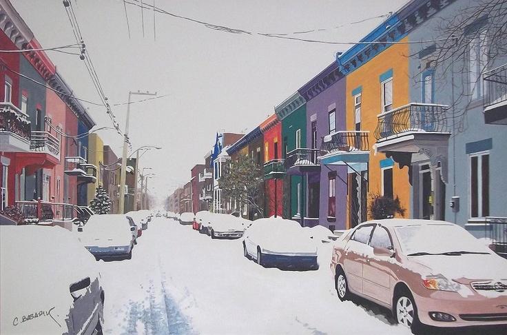 """Cam Basarir """"Montreal"""" Acrylic painting http://www.cembasarir.com/"""