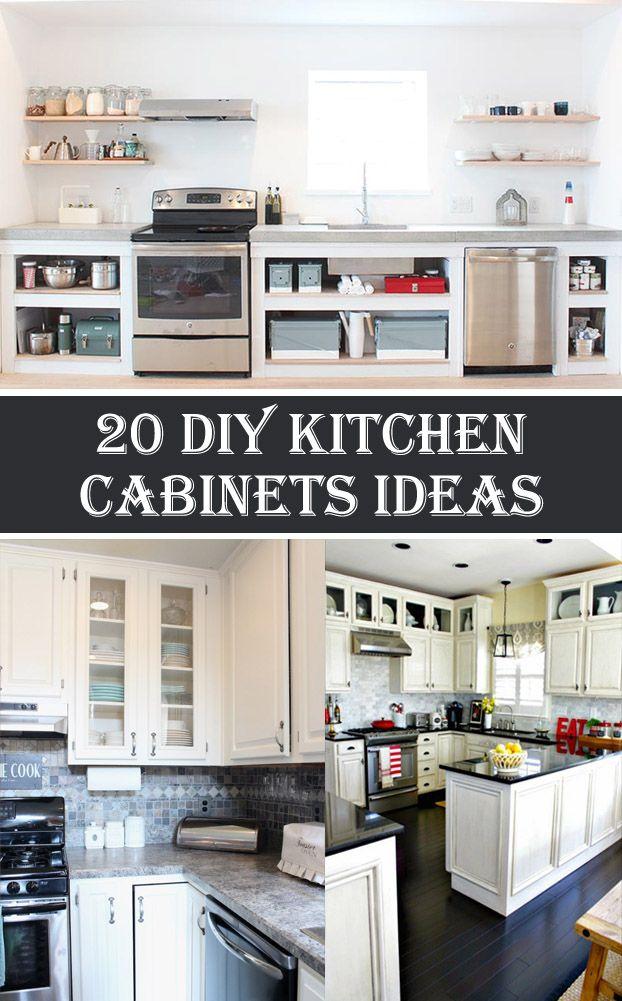 20 DIY Kitchen Cabinets Ideas