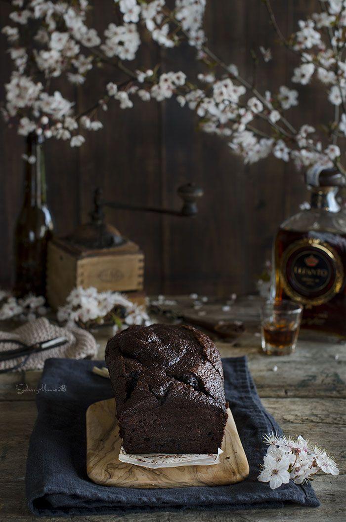 Bizcocho de chocolate, café y Brandy