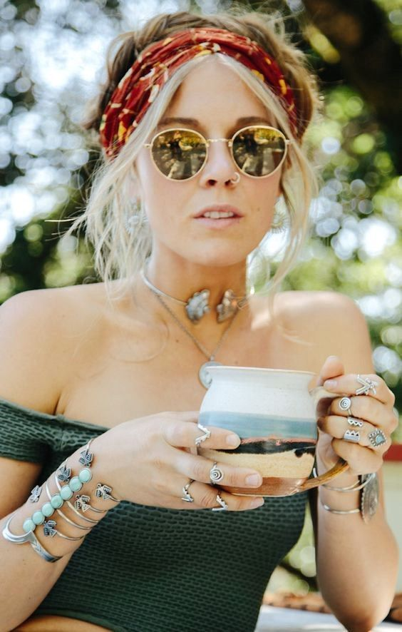 Boho accessories, Boho cuff, Coachella style, Coachella accessories, Coachella f…