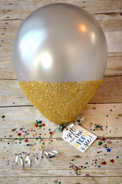 """""""Wrap"""" your gift card or cash gift...inside a balloon!"""