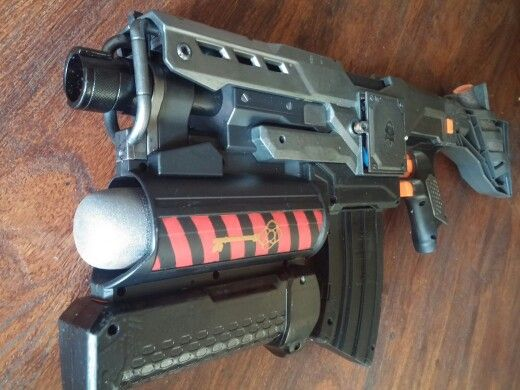 Nerf Guns Painted Black