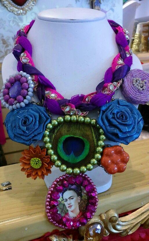 Collar de Frida Kahlo#diseñado por Deseos Divinos#Guadalajara, Jal.