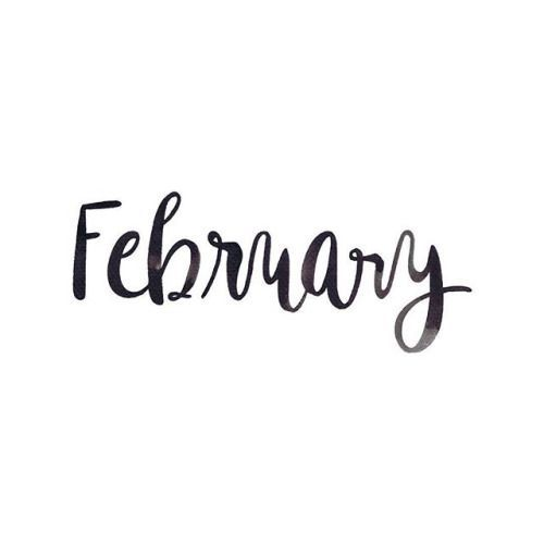 February | Months | Winter | 2 | Writing | Typography