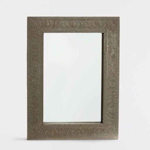 Imagem de produto Espelho retangular metal gravado
