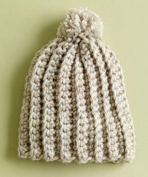 Free Crochet Pattern: Ripe Wheat Hat  Lion Brand® Hometown USA®  Pattern #: L0491