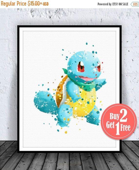 big sale pokemon squirtle print pokemon art pokemon by carmazoe