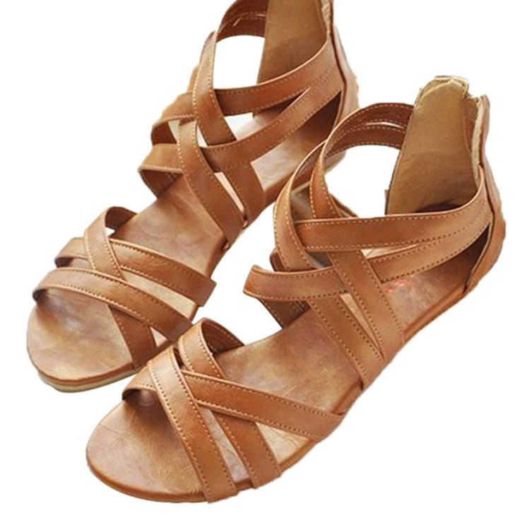 2016 Gladiator Sandals Summer Style Flats Shoes  I HAVE SOME VERY SIMILAR TO THESE - from Blowfish
