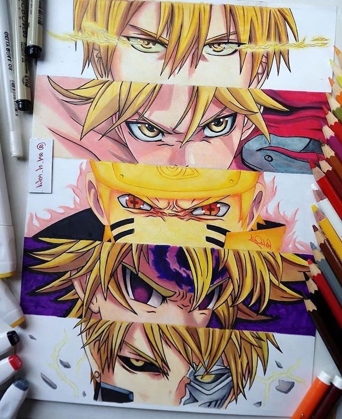 How To Draw Anime Step By Step Different Anime Characters Colourful Drawing In 2020 Drawing Anime Bodies Anime Sketch Anime Eyes
