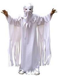 Hayalet Kostümü, Çocuk Parti Kostümleri - Unisex Çocuk Parti Kostümleri Cadılar Bayramı / Halloween Kostümleri: Kostümlü Parti, Kıyafet Balosu, Okul Gösterileri, Korku Temalı Partiler için ideal kostüm.  Elbise kostüm ve başlık. Boy: 116cm En: 41cm, Başlık boyu 50cm, eni 20cm.