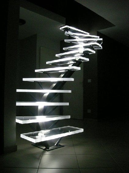 LED lighted Acrylic Stairs.