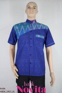 <p>Bahan batik embos / timbul<br />Kombinasi tenun troso Jepara<br />Motif rang-rang</p><p>Size : XL<br />Lingkar dada: 104 cm<br />Lingkar pinggang: 106 cm<br />Panjang baju : 76 cm<br />Panjang lengan : 23 cm</p>