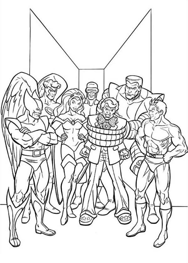 X Men Coloring Pages 4