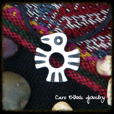Aguila, Amuletos de los Andes. Plata 950.