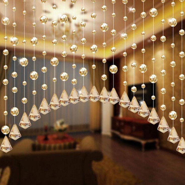 1 Metros Perlas Cristalinas de Cristal Colgante Cortina de Ventana Cortinas Partitio Boda Telón de Fondo la Decoración Del Hogar Envío Gratis R007(China (Mainland))
