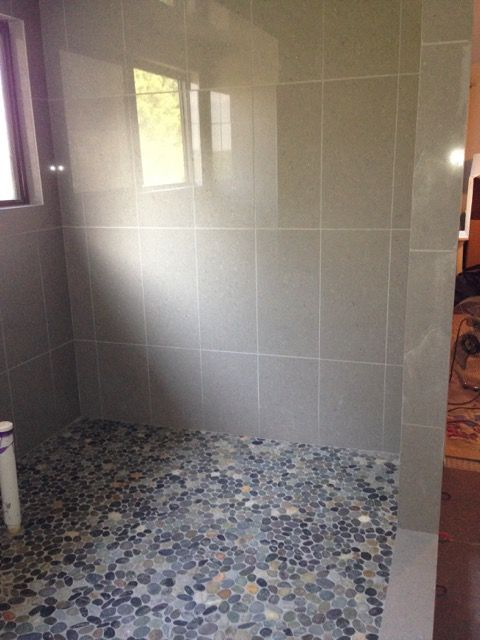 Beautiful Shower Floor Using Sliced Bali Ocean Pebble Tile Https Www