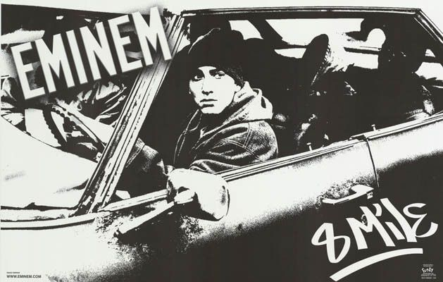 A great poster of Slim Shady in his hooptie! From the Eminem movie 8 Mile. An original published in 2002. Fully Licensed. Ships fast. 22x34 inches. Check out the rest of our awesome selection of Emine