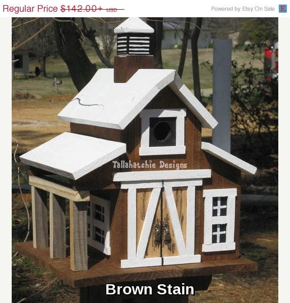 30% OFF TODAY Rustic Barn Birdhouse Large by TallahatchieDesigns