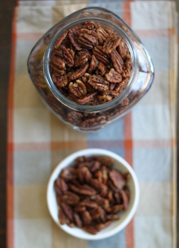 Alton Brown's Spicy Pecans: These make fantastic host/hostess gifts (see photo below), as well as a simple snack or party appetizer.