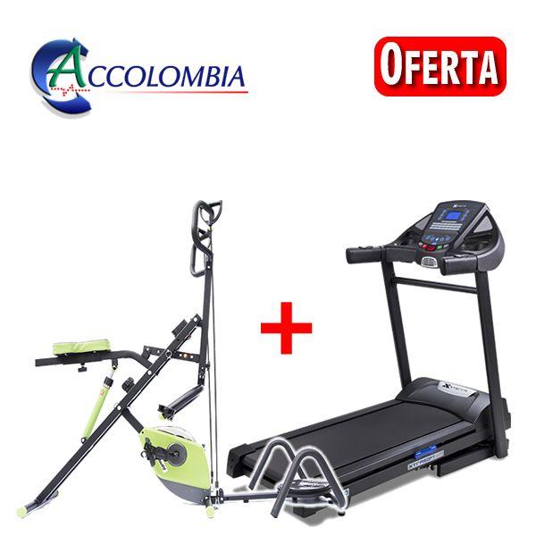 Combo Equipos de Gimnasio Eliptica + Caminadora Fitness