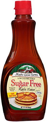 Maple Grove Farms Sugar Free Syrup Maple Flavor 12 Ounce Pack of 12 -- To view further for this item, visit the image link. (This is an affiliate link and I receive a commission for the sales)