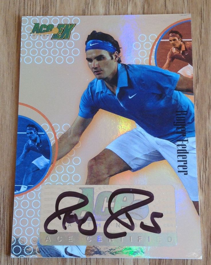Tennis Cards 43371: Roger Federer 2011 Ace Authentic Ex Tennis Autograph Auto 50 Wimbledon Champion -> BUY IT NOW ONLY: $325 on eBay!