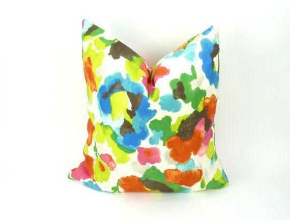 cassa del cuscino floreale / / acquerello cuscino di LiveLoveSmile