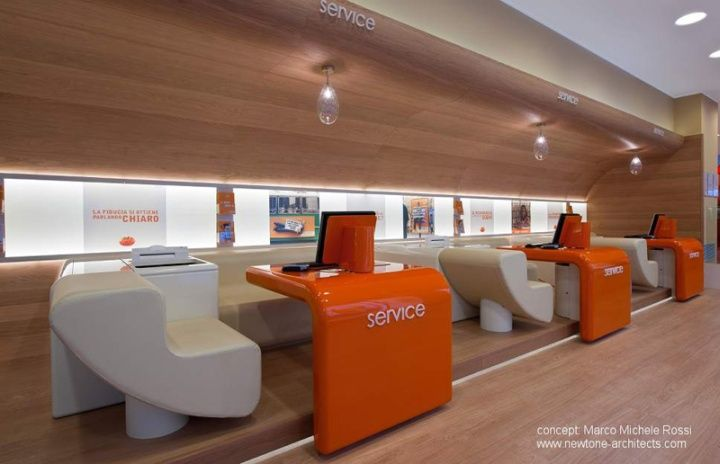 ING Direct by Newtone Architects, Milan store design