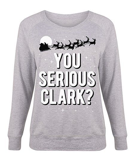 640eb67851 LC trendz Plus Athletic Heather You Serious Clark? Slouchy Pullover - Plus  | zulily