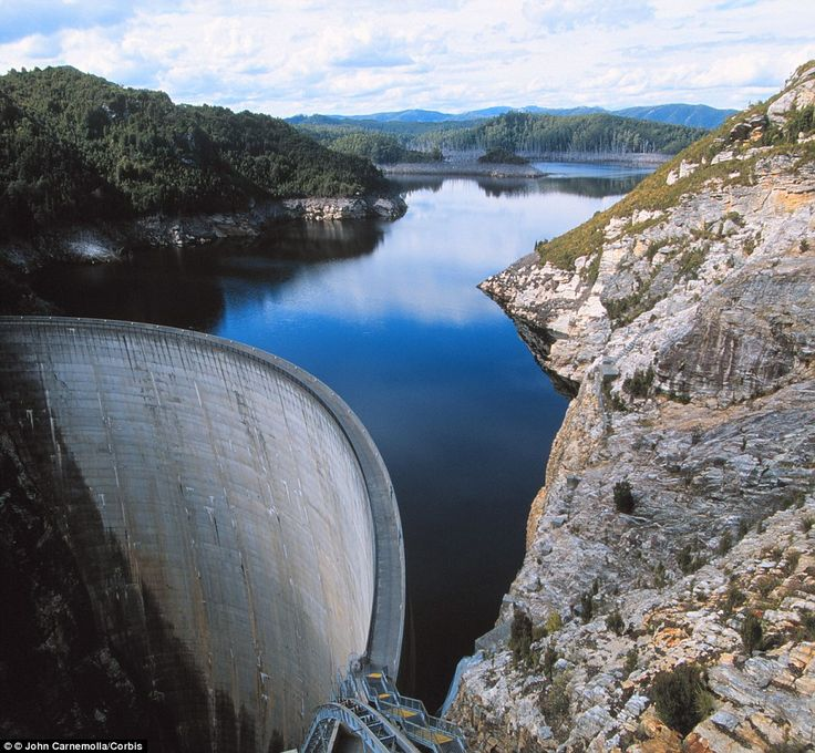 Gordon River Dam and Lake Gordon in the Franklin-Gordon Wild Rivers National Park is simpl...
