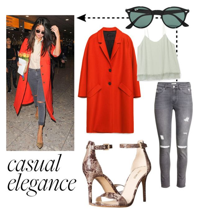 Casual elegance by antonella-ienna on Polyvore featuring polyvore, mode, style, Rebecca Minkoff, Zara, H&M, Nine West, Ray-Ban, fashion, women's clothing, women's fashion, women, female, woman, misses and juniors