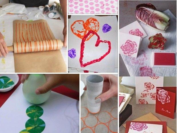 20 ideas para estampar sobre papel o tela