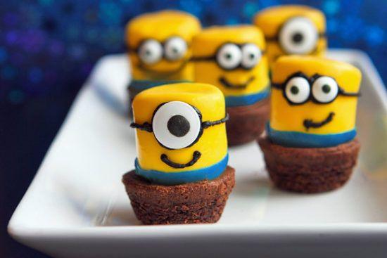 Minion-Marshmallow-Brownie-Bites