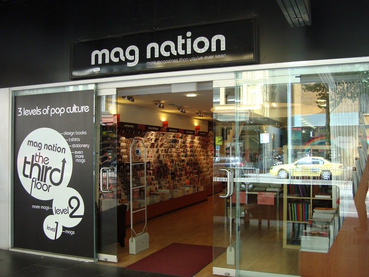 Mag Nation. three stories of magazines from around the world and pop culture. Plus they now have an espresso machine.