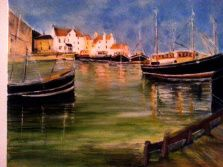 Trawler boats - Scotland - Painting by Isabel macleod