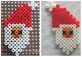Christmas Santa Claus perler beads