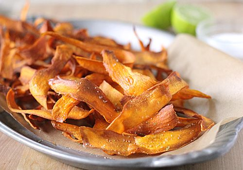 Sweet Potato Chips with Lime Salt