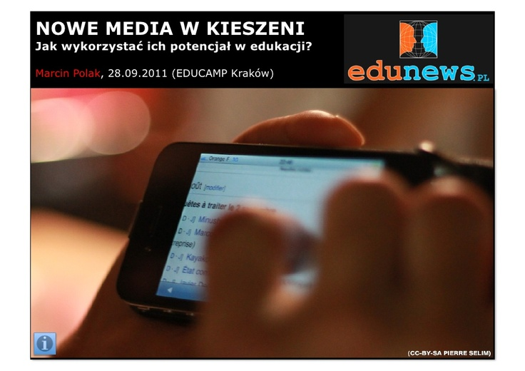 nowe-media-w-kieszeni by Marcin Polak via Slideshare