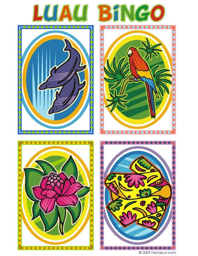 Luau Bingo Calling Card 2