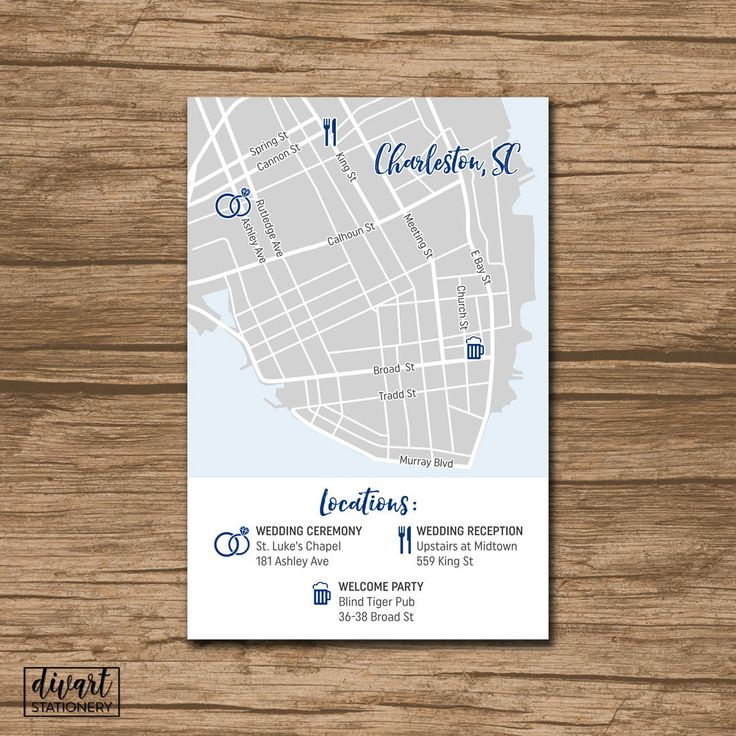 wedding invitations map%0A Custom Wedding Map  Event Map  Directions  Locations  PRINTABLE file   Enclosure Card